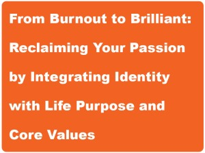 Title box - From Burnout to Brilliant life coaching workshop